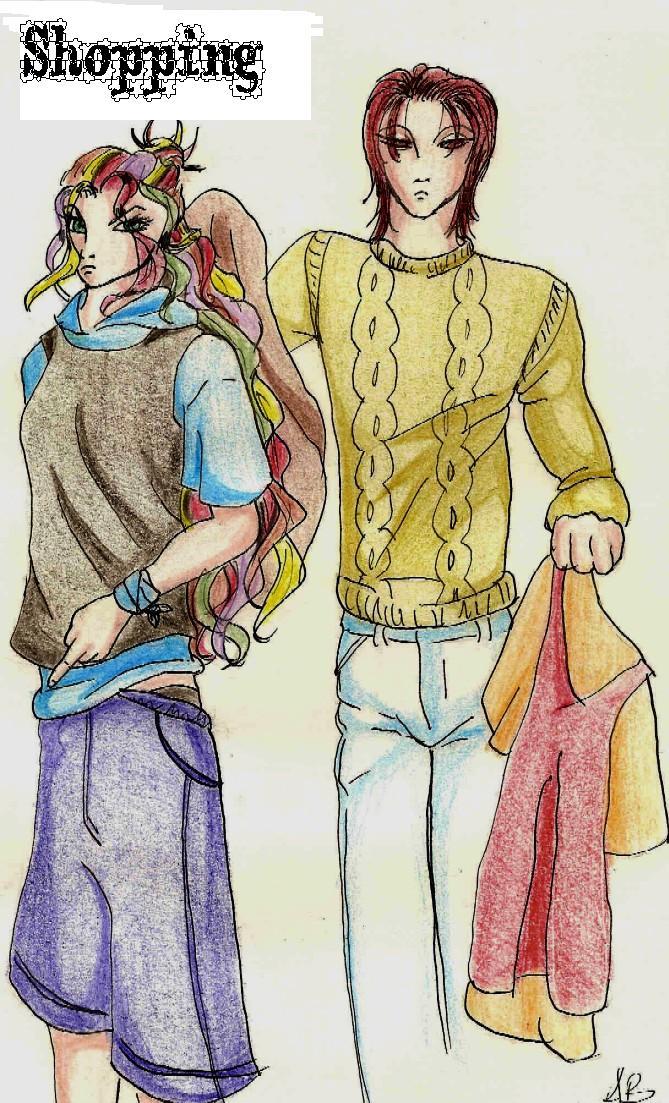 Jun e Astrid: shopping
