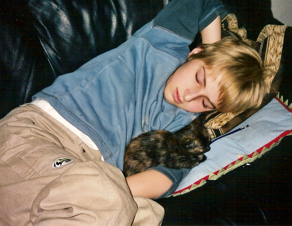 Luca fratello e Sele gatta